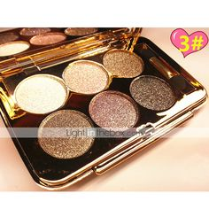 6 Color Shimmer Eye Shadow No.1-6(Assorted Colors) 2015 – $6.99