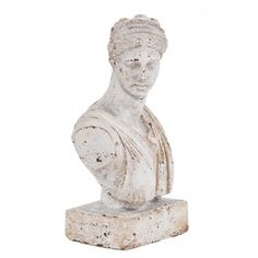 Old World Ceramic Female Bust Sculpture Howard Elliott Collection Indoor Statuary Statues