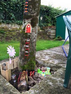 Fairy Sally loves her garden! Fairy Houses, Ladder Decor, Sally, Fairies, Outdoor Decor, Garden, Homes, Home Decor, Homemade Home Decor
