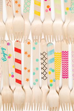 Variety Pack - 20 Wooden Utensils - As Seen In July Press etsy