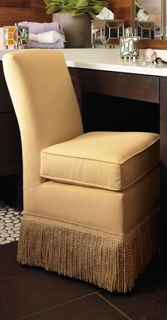 Feel glamorous as you prepare for the day seated in our Marisa Vanity Chair.