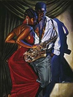 African American Black Art Print