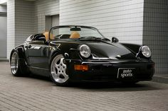 1989 Porsche 911 Speedster (option M503), a low-roof version of the Cabriolet which was evocative of the Porsche 356 Speedster of the 1950s, was produced in limited numbers (2,104) starting in January 1989 until July 1989