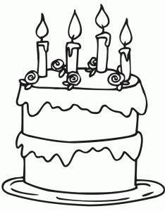 Color the Happy Birthday Cake | Birthday coloring pages ...