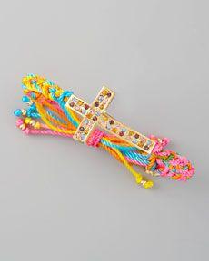 Y140A Blee Inara Braided Cross Bracelet