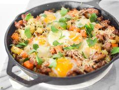 Sweet Potato Breakfast Skillet @cookingandbeer