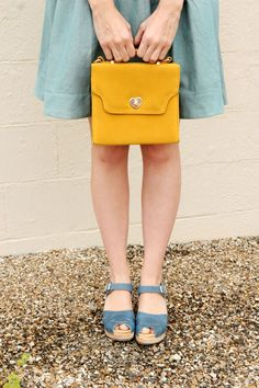blue with yellow accents. love. <3