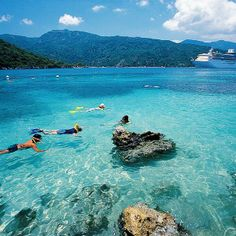 Sand, sea, and snorkeling in Labadee.