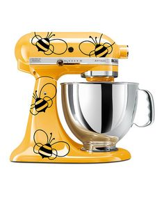 This Black Vinyl Bumblebee KitchenAid Mixer Decal - Set of Nine by DWDesign8 is perfect! #zulilyfinds