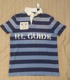 #ebay men cloth POLO Ralph Lauren Men's Size M POLO shirt Custome Fit Blue Stripes RL GUIDE NWT RalphLauren withing our EBAY store at  http://stores.ebay.com/esquirestore