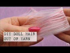 This video is a great tool for anyone who doesn't have an access to on-line shopping and loves doll crafts! Doll hair is not very expensive but it's hard Diy Yarn Doll Hair, Hair Yarn, Yarn Wig, Doll Crafts, Diy Doll, Doll Hair Detangler, Wool Dolls, Rag Dolls, Monster High Doll Clothes