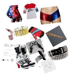 """my Halloween costume... harley quinn...."" by melissa-mcalpine-hirst on Polyvore"