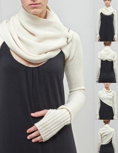 Sleeve Shrug / 100% Superfine Merino Wool $175 – 100% Supersoft Cotton $170  N:F:P's ability to turn upside-down, backwards, and creatively mold, secures the sustainability of each garment. It su...