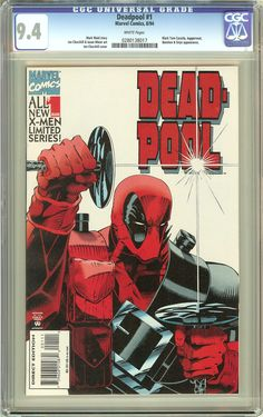 Deadpool #1 (Limited Series 1994) CGC 9.4 White Pages 0280138017