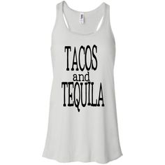 Tacos and Tequila Tank Top Customize Your Colors Xs-Xl Yoga Shirt... (€18) ❤ liked on Polyvore featuring tops, black, tanks, women's clothing, party shirts, black top, yoga tank, party tanks and black tank top