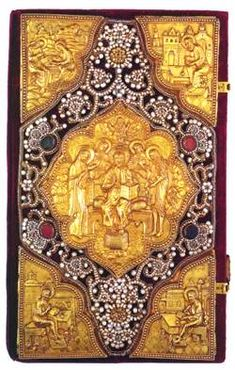 Altar Book of GospelsPrinted in Moscow, 1703 Binding Russian, early 18th Century Paper, silver, pearls, glass, velvet, silk