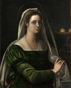 Себастьяно дель Пьомбо . Портрет дамы с атрибутами святой Агаты