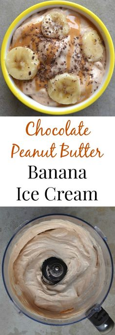 Chocolate Peanut Butter Banana Protein Ice Cream takes 2 minutes to make, tastes just like ice cream and is super healthy! This Chocolate Peanut Butter Banana Protein Ice Cream takes 2 minutes to make, tastes just like ice cream and is super healthy! Peanut Butter Ice Cream, Peanut Butter Recipes, Peanut Butter Banana, Chocolate Peanut Butter, Chocolate Cream, Protein Ice Cream, Healthy Ice Cream, Banana Ice Cream, Low Carb Cookie Dough