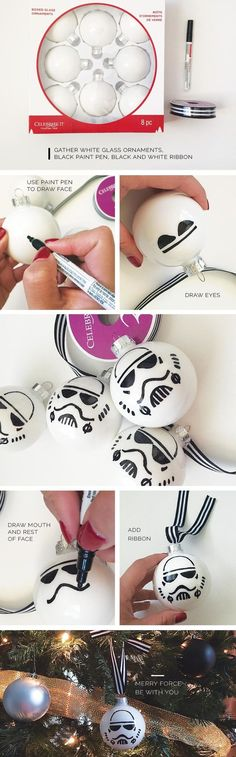 jpg - Star Wars Stormtroopers - Ideas of Star Wars Stormtroopers - stormtroopers_ornament. Star Wars Christmas Tree, Disney Christmas, Christmas Holidays, Diy Christmas Ornaments, Glitter Ornaments, Star Wars Christmas Decorations, Glitter Glue, Christmas Projects, Holiday Crafts