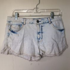 White Wash High-Waisted Shorts Stretchy shorts with frayed bottom Mossimo Supply Co Shorts Jean Shorts