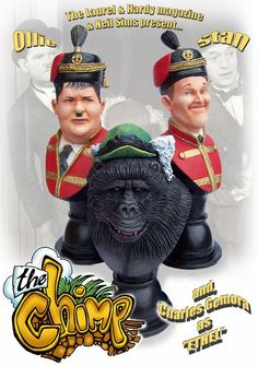 BUY: Laurel and Hardy with ETHEL the CHIMP BUSTS SET.