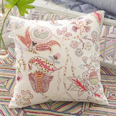 Pine Cone Hill Mirabelle Embroidered Decorative Pillow PCHMIRDP20