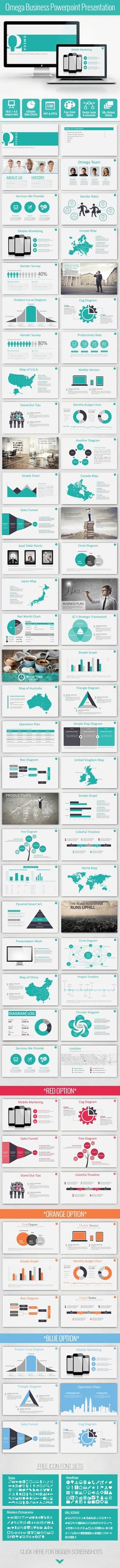 Omega Bussiness Powerpoint Template - PowerPoint Templates Presentation Templates