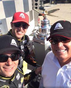 Victory lane selfie by Jeff Gordon