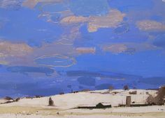 urgetocreate:  Harry Stooshinoff, January Snow on Hope Hill, 2014