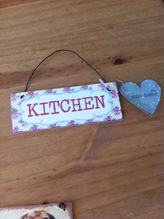 floral vintage METAL SIGNS retro KITCHEN SIGN wall art shabby chic home decor - for sale in store at stores.ebay.co.uk/bellsvintagebouitique
