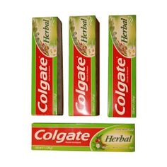 Colgate Herbal Toothpaste - Multipack of 4 Pack Toothpaste With Eucalyptus, Myrrh, Camomile and Sage - Bulk Fluoride Tooth Paste Gel For Gum Disease - 100ml by Colgate Herbal, http://www.amazon.co.uk/dp/B00I08XZ9M/ref=cm_sw_r_pi_dp_RRy4sb0K9BR9M
