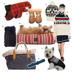 1. Billy Wolf, Elliot Coat 2.Furry Footwear,The Chicago Winter Boot in Chestnut3. Eugenia Kim,Noel Patterned Alpaca Beanie4. Tommy Hilfiger, Tommy Hilfiger F/W 2014 Collection 5. Alqo Wasi, Mystic Snowflake Sweater6. George San Francisco, Blue Latex Stick Chew Toy 7. Cloud7, Dog Carrier Canvas Grey8. WARE of the DOG available at Dog & CO, Alpaca Hairy Sweater in Black 9. AND I was lucky enough to receive one of theseHarry Barker, Classic Stripe Rectangle Dog Bed in Red