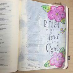 Bible Journaling by Kristin Fields @tazandbelly | Joel 2:13