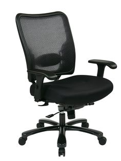 Space Seating® Double AirGrid® Big & Tall Back and Black Mesh Seat Ergonomic Chair