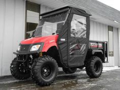 Got snow? No problem! This brand new American SportWorks LM650S side-by-side 4x4 UTV is ready for winter with a powerful 650cc Subaru engine, 4 wheel drive, locking differential, hard top, folding windshield, and swinging door enclosure. In stock now for just $8890. #AmericanSportWorks #Landmaster #LM650 #sidebyside #UTV #4WD #winter #madeinUSA #PES #Vandalia Swinging Doors, Snow Plow, American Sports, Side Door, Weather Conditions, 4x4, Ohio