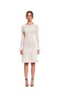 Helen Rödel crochet dress. Back. Black & white collection
