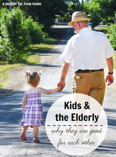 It's good for kids to be around elderly people and vice versa!!! Here are some reasons why it's good to let your kids be around their grandparents and elders. family bonding time, family bonding ideas #parenting