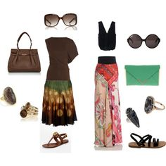 Two totally different hippy inspired looks