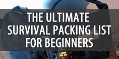 The Ultimate Survival Packing List for Beginners Emergency Survival Kit, Emergency Preparation, Urban Survival, Survival Food, Outdoor Survival, Survival Knife, Survival Prepping, Survival Skills, Disaster Preparedness
