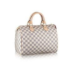 Speedy 30 Damier Azur Canvas ❤ liked on Polyvore featuring home, home decor and canvas home decor