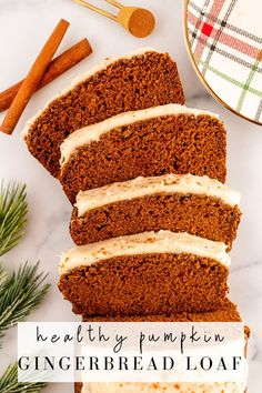 Pumpkin gingerbread loaf is moist, delicious and spiced to perfection with molasses, pumpkin pie spice, ginger, cinnamon and nutmeg. Topped with delicious cream cheese frosting, it can be made gluten and dairy free. #pumpkin #gingerbread #pumpkinbread #pumpkinspice #molasses #ginger #healthytreat #onceuponapumpkin Pumpkin Pie Mix, A Pumpkin, Pumpkin Puree, Pumpkin Spice, Fresh Pumpkin Recipes, Healthy Pumpkin Bread, Soften Cream Cheese, Cream Cheese Frosting, Ginger Bread Loaf