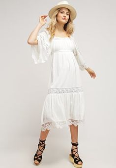 * Bestill Denim & Supply Ralph Lauren RACHEL - Sommerkjole - antique white for kr 2 445,00 (22.06.16) med gratis frakt på Zalando.no