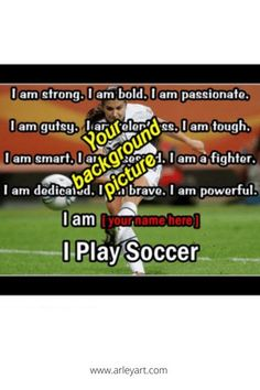 Motivational soccer wall art. Personalized poster, perfect gift idea for any aspiring soccer player. #giftidea Soccer Motivation, Motivation Wall, Alex Morgan Soccer, Soccer Poster, Motivational Wall Art, Personalized Posters, Soccer Quotes, Play Soccer, Quote Posters