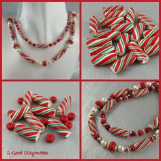 This lesson is offered on our blog as a free tutorial on how to make some yummy candy cane beads.