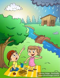 Ilustração Cartilha sobre Ciclo da Água