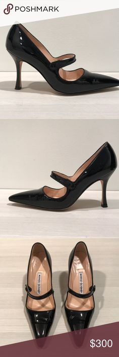 Manolo Blahnik Compari Patent Heels Manolo Blahnik Campari patent high heel mary janes; very good condition; 90 cm heel height; sold with original box; fits US 6.5 Manolo Blahnik Shoes Heels #manoloblahnikmaryjanes