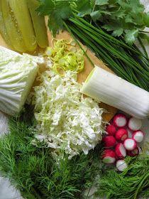 sio-smutki! Monika od kuchni: Surówka z kapusty pekińskiej, szczypiorku, koperku i rzodkiewki