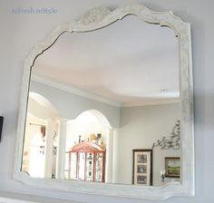 Mirror Makeover with stencil and chalk paint