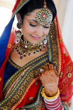 Indian sari, jewelry, and mehndi (henna) designs