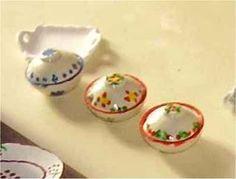 Las Miniaturas de Diosy: tutorial for dinner dishes Spanish